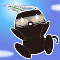 クロネコのスカイダイビング_R